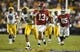 Nov 3, 2018; Baton Rouge, LA, USA; Alabama Crimson Tide quarterback Tua Tagovailoa (13) carries for a 44-yard touchdown against the LSU Tigers during the third quarter at Tiger Stadium. Mandatory Credit: John David Mercer-USA TODAY Sports