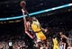 Nov 3, 2018; Portland, OR, USA; Los Angeles Lakers guard Rajon Rondo (9) drives to the basket on Portland Trail Blazers forward Zach Collins (33) during the second half of the game at the Moda Center. The Lakers won the game 114-110. Mandatory Credit: Steve Dykes-USA TODAY Sports