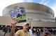 Nov 4, 2018; New Orleans, LA, USA; A vendor hawks programs outside the Mercedes-Benz Superdome before the game between the New Orleans Saints and the Los Angeles Rams. Mandatory Credit: Chuck Cook-USA TODAY Sports