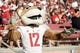 Oct 27, 2018; Stanford, CA, USA; Washington State Cougars mascot Butch T Cougar entertains the crowd during the first quarter against the Stanford Cardinal at Stanford Stadium. Mandatory Credit: Stan Szeto-USA TODAY Sports