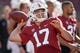 Oct 27, 2018; Stanford, CA, USA; Stanford Cardinal quarterback Dylan Plautz (17) warms up before the game against the Washington State Cougars at Stanford Stadium. Mandatory Credit: Stan Szeto-USA TODAY Sports