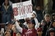 Nov 10, 2018; Stanford, CA, USA; Stanford Cardinal fan holds up a sign before the game against the Oregon State Beavers at Stanford Stadium. Mandatory Credit: Stan Szeto-USA TODAY Sports