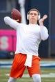 Nov 17, 2018; New York, NY, USA; Syracuse Orange quarterback Eric Dungey (2) warms up prior to the game against the Notre Dame Fighting Irish at Yankee Stadium. Mandatory Credit: Rich Barnes-USA TODAY Sports