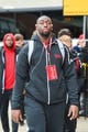 Nov 23, 2018; Iowa City, IA, USA; Nebraska Cornhuskers defensive lineman Freedom Akinmoladun (91) enters Kinnick Stadium before a game against the Iowa Hawkeyes. Mandatory Credit: Jeffrey Becker-USA TODAY Sports