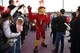 Nov 24, 2018; Louisville, KY, USA; The Louisville Cardinals mascot greets fans during the Card March before facing off against the Kentucky Wildcats at Cardinal Stadium. Mandatory Credit: Jamie Rhodes-USA TODAY Sports