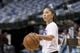 Dec 2, 2018; Dallas, TX, USA; LA Clippers assistant coach Natalie Mitsue Nakase helps the team warm up before the game between the Dallas Mavericks and the LA Clippers at the American Airlines Center. Mandatory Credit: Jerome Miron-USA TODAY Sports