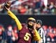 Dec 15, 2018; Las Vegas, NV, United States; Arizona State Sun Devils quarterback Manny Wilkins (5) warms up before taking on the Fresno State Bulldogs in the Las Vegas Bowl at Sam Boyd Stadium. Mandatory Credit: Stephen R. Sylvanie-USA TODAY Sports