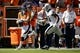 Sep 16, 2018; Denver, CO, USA; Oakland Raiders safety Marcus Gilchrist (31) defends as Denver Broncos running back Phillip Lindsay (30) runs the ball in the second quarter at Broncos Stadium at Mile High. Mandatory Credit: Isaiah J. Downing-USA TODAY Sports