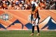 Sep 16, 2018; Denver, CO, USA; Denver Broncos punter Marquette King (1) in the second quarter against the Oakland Raiders at Broncos Stadium at Mile High. Mandatory Credit: Isaiah J. Downing-USA TODAY Sports