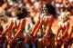 Sep 16, 2018; Denver, CO, USA; Denver Broncos cheerleaders perform at the end of the first quarter against the Oakland Raiders at Broncos Stadium at Mile High. Mandatory Credit: Isaiah J. Downing-USA TODAY Sports