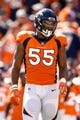Sep 16, 2018; Denver, CO, USA; Denver Broncos outside linebacker Bradley Chubb (55) in the first quarter against the Oakland Raiders at Broncos Stadium at Mile High. Mandatory Credit: Isaiah J. Downing-USA TODAY Sports