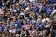 Sep 1, 2018; Colorado Springs, CO, USA; Air Force Falcons fans during the National Anthem before the game against the Stony Brook Seawolves at Falcon Stadium. Mandatory Credit: Isaiah J. Downing-USA TODAY Sports