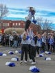 Dec 21, 2018; Boise, ID, United States; Brigham Young Cougars cheerleaders prior to play against the Western Michigan Broncos at the 2018 Potato Bowl at Albertsons Stadium. Mandatory Credit: Brian Losness-USA TODAY Sports
