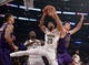 December 21, 2018; Los Angeles, CA, USA; New Orleans Pelicans forward Anthony Davis (23) grabs a rebound against Los Angeles Lakers center Ivica Zubac (40) during the first half at Staples Center. Mandatory Credit: Gary A. Vasquez-USA TODAY Sports