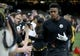 Dec 23, 2018; New Orleans, LA, USA; Pittsburgh Steelers wide receiver JuJu Smith-Schuster (19) greets fans before their game against the New Orleans Saints at the Mercedes-Benz Superdome. Mandatory Credit: Chuck Cook-USA TODAY Sports