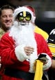 Dec 23, 2018; New Orleans, LA, USA; A Pittsburgh Steelers Santa before their game against the New Orleans Saints at the Mercedes-Benz Superdome. Mandatory Credit: Chuck Cook-USA TODAY Sports