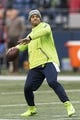 Dec 23, 2018; Seattle, WA, USA; Seattle Seahawks quarterback Russell Wilson (3) during warmups prior to the game against the Kansas City Chiefs at CenturyLink Field. Mandatory Credit: Steven Bisig-USA TODAY Sports