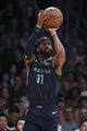 Dec 23, 2018; Los Angeles, CA, USA; Memphis Grizzlies guard Mike Conley (11) attempts a shot during the first quarter against the Los Angeles Lakers at Staples Center. Mandatory Credit: Kelvin Kuo-USA TODAY Sports