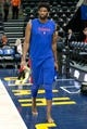 Dec 27, 2018; Salt Lake City, UT, USA; Philadelphia 76ers center Joel Embiid (21) walks onto the court for warmup prior to the game against the Utah Jazz at Vivint Smart Home Arena. Mandatory Credit: Russ Isabella-USA TODAY Sports