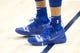 Dec 27, 2018; Salt Lake City, UT, USA; A detail photo of shoes worn by Philadelphia 76ers guard Landry Shamet (1) prior to a game against the Utah Jazz at Vivint Smart Home Arena. Mandatory Credit: Russ Isabella-USA TODAY Sports