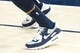 Dec 27, 2018; Salt Lake City, UT, USA; A detail photo of shoes worn by Utah Jazz forward Thabo Sefolosha (22) prior to a game against the Philadelphia 76ers at Vivint Smart Home Arena. Mandatory Credit: Russ Isabella-USA TODAY Sports