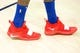 Dec 27, 2018; Salt Lake City, UT, USA; A detail photo of shoes worn by Philadelphia 76ers center Amir Johnson (5) prior to a game against the Utah Jazz at Vivint Smart Home Arena. Mandatory Credit: Russ Isabella-USA TODAY Sports