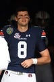 Dec 28, 2018; Nashville, TN, USA; Auburn Tigers quarterback Jarrett Stidham (8) walks to the field before the game against the Purdue Boilermakers in the 2018 Music City Bowl at Nissan Stadium. Mandatory Credit: Christopher Hanewinckel-USA TODAY Sports