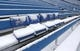 Dec 30, 2018; Orchard Park, NY, USA; A general view of snow covered seats at New Era Field before a game between the Buffalo Bills and the Miami Dolphins. Mandatory Credit: Timothy T. Ludwig-USA TODAY Sports