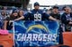 Dec 30, 2018; Denver, CO, USA; A Los Angeles Chargers fan holds a sign for the Chargers before the game against the Denver Broncos at Broncos Stadium at Mile High. Mandatory Credit: Isaiah J. Downing-USA TODAY Sports
