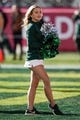 Dec 31, 2018; Santa Clara, CA, USA; Michigan State Spartans cheerleader entertains the crowd before the game against the Oregon Ducks at Levi's Stadium. Mandatory Credit: Stan Szeto-USA TODAY Sports