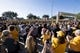 Jan 1, 2019; Tampa, FL, USA; Iowa Hawkeyes marching band performs outside of Raymond James Stadium prior to the Hawkeyes' game against the Mississippi State Bulldogs in the 2019 Outback Bowl. Mandatory Credit: Douglas DeFelice-USA TODAY Sports