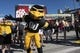 Jan 1, 2019; Tampa, FL, USA; Iowa Hawkeyes mascot poses for a photo outside Raymond James Stadium prior to the Hawkeyes' game against the Mississippi State Bulldogs in the 2019 Outback Bowl. Mandatory Credit: Douglas DeFelice-USA TODAY Sports