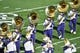 Jan 1, 2019; Pasadena, CA, USA; The Washington Huskies marching band performs before  the 2019 Rose Bowl between the Washington Huskies and the Ohio State Buckeyes at Rose Bowl Stadium. Mandatory Credit: Robert Hanashiro-USA TODAY Sports