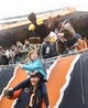 Jan 6, 2019; Chicago, IL, USA; Chicago Bears fans hit a stuffed eagle before a NFC Wild Card playoff football game against the Philadelphia Eagles at Soldier Field. Mandatory Credit: Mike DiNovo-USA TODAY Sports