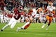 Jan 7, 2019; Santa Clara, CA, USA; Clemson Tigers cornerback Trayvon Mullen (1) intercepts a pass intended for Alabama Crimson Tide wide receiver Jerry Jeudy (4) during the first half during the 2019 College Football Playoff Championship game at Levi's Stadium. Mandatory Credit: Matthew Emmons-USA TODAY Sports