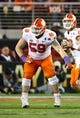 Jan 7, 2019; Santa Clara, CA, USA; Clemson Tigers lineman Gage Cervenka  (59) in action against the Alabama Crimson Tide in the 2019 College Football Playoff Championship game at Levi's Stadium. Mandatory Credit: Matthew Emmons-USA TODAY Sports