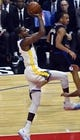 Jan 18, 2019; Los Angeles, CA, USA; Golden State Warriors forward Kevin Durant (35) hangs in the air as he drives to the basket I the first quarter against the Los Angeles Clippers at Staples Center. Mandatory Credit: Robert Hanashiro-USA TODAY Sports
