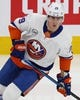 Feb 21, 2019; Edmonton, Alberta, CAN; New York Islanders forward Brock Nelson (29) skates during warmup before a game against the Edmonton Oilers at Rogers Place. Mandatory Credit: Perry Nelson-USA TODAY Sports