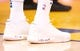 Mar 10, 2019; Oakland, CA, USA; The shoes of Golden State Warriors center Kevon Looney (5) during the second quarter against the Phoenix Suns at Oracle Arena. Mandatory Credit: Kelley L Cox-USA TODAY Sports