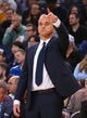 Mar 10, 2019; Oakland, CA, USA; Phoenix Suns head coach Igor Kokoskov calls out to the players during the second quarter against the Golden State Warriors at Oracle Arena. Mandatory Credit: Kelley L Cox-USA TODAY Sports