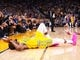Mar 10, 2019; Oakland, CA, USA; Golden State Warriors forward Kevin Durant (35) reacts to an injured right ankle during the fourth quarter against the Phoenix Suns at Oracle Arena. Mandatory Credit: Kelley L Cox-USA TODAY Sports
