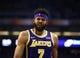 Oct 24, 2018; Phoenix, AZ, USA; Los Angeles Lakers center JaVale McGee (7) against the Phoenix Suns at Talking Stick Resort Arena. Mandatory Credit: Mark J. Rebilas-USA TODAY Sports