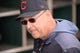 Mar 13, 2019; Goodyear, AZ, USA; Cleveland Indians manager Terry Francona (77) looks on prior to facing the Milwaukee Brewers at Goodyear Ballpark. Mandatory Credit: Joe Camporeale-USA TODAY Sports
