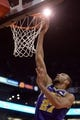 Mar 13, 2019; Phoenix, AZ, USA; Utah Jazz center Rudy Gobert (27) dunks against the Phoenix Suns during the first half at Talking Stick Resort Arena. Mandatory Credit: Joe Camporeale-USA TODAY Sports