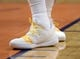 Mar 13, 2019; Phoenix, AZ, USA; The sneakers of Utah Jazz forward Jae Crowder (99) during the game against the Phoenix Suns at Talking Stick Resort Arena. Mandatory Credit: Joe Camporeale-USA TODAY Sports