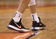 Mar 13, 2019; Phoenix, AZ, USA; The Nike sneakers of Phoenix Suns guard Devin Booker (1) during the game against the Utah Jazz at Talking Stick Resort Arena. Mandatory Credit: Joe Camporeale-USA TODAY Sports