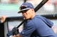 Mar 11, 2019; Clearwater, FL, USA; Tampa Bay Rays shortstop Willy Adames (1) works out prior to the game at Spectrum Field. Mandatory Credit: Kim Klement-USA TODAY Sports