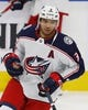 Mar 21, 2019; Edmonton, Alberta, CAN; Columbus Blue Jackets defensemen Seth Jones (3) skates during warmup against the Edmonton Oilers at Rogers Place. Mandatory Credit: Perry Nelson-USA TODAY Sports