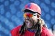 Mar 22, 2019; Tampa, FL, USA;Philadelphia Phillies first baseman Maikel Franco (7) laughs as he works out prior to the game against the New York Yankees at George M. Steinbrenner Field. Mandatory Credit: Kim Klement-USA TODAY Sports