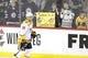 Mar 23, 2019; Winnipeg, Manitoba, CAN;  Nashville Predators center Calle Jarnkrok (19) skates past fans before a game against the Winnipeg Jets at Bell MTS Place. Mandatory Credit: James Carey Lauder-USA TODAY Sports